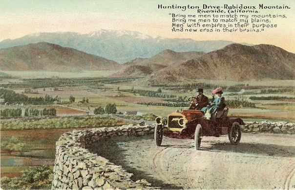Huntington_Drive.Rubidoux_Mountain_Post_Card_Cira_1910