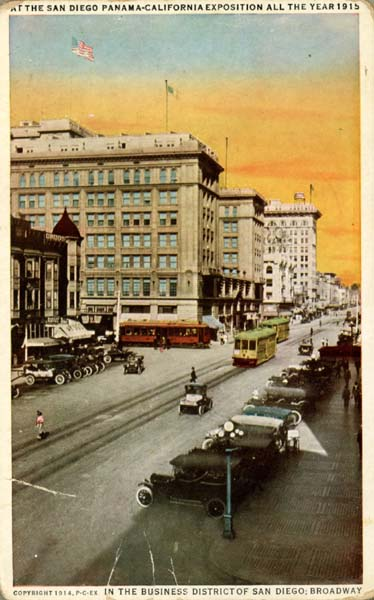 San_Diego-Broadway_post_card_copyright_1914
