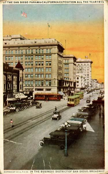 San_Diego-Broadway_post_card_copyright_1914