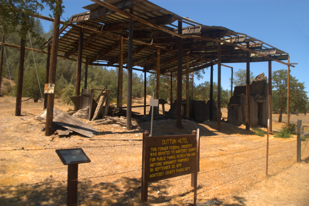 Dutton Hotel, a nineteenth century stagecoach stop in the south of Monterey County, a preservation failure