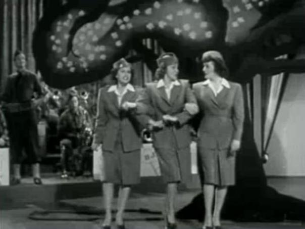 The Andrews Sisters, here in a Second World War movie, but still wildly popular thereafter