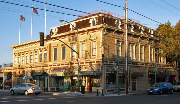 Typical Victorian architecture on Webster Street
