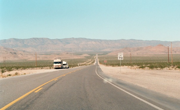 East-West desert highway in Nevada