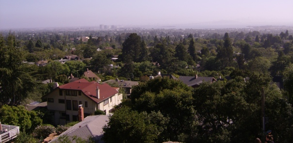 Typical homes in the Berkeley Hills