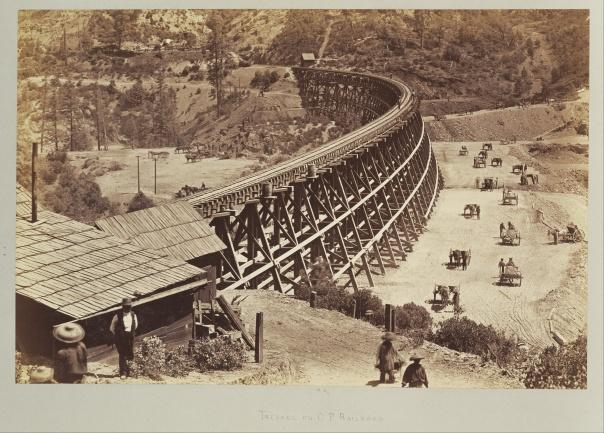 Trestle on Central Pacific Railroad