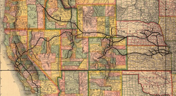 Major Western railway lines during Nordhoff's time