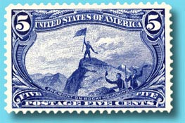 Postage stamp from the 1890s honoring Fremont