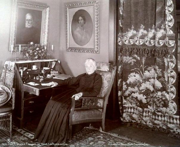 Jessie Benton Fremont at her home in Los Angeles, 1892