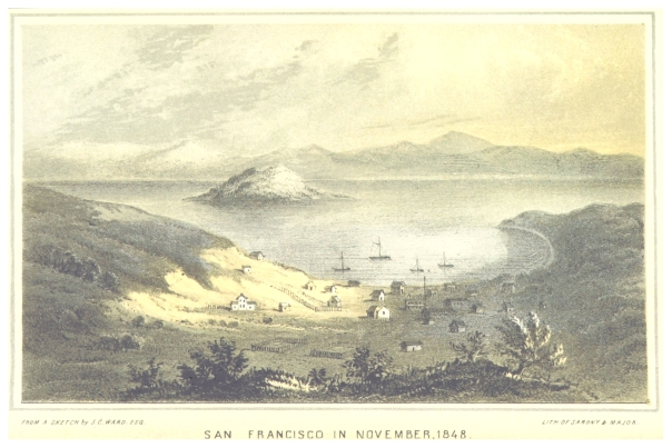 San Francisco 1848, as illustrated in Taylor's book Eldorado