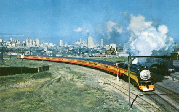 Train leaving San Francisco in 1949
