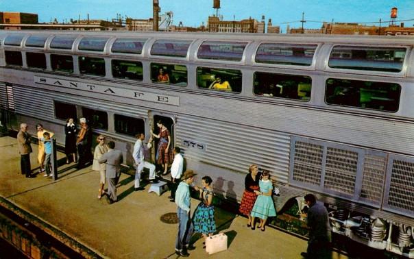 Vista Dome-style passenger cars