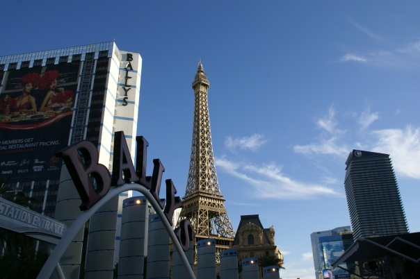 Bally's Hotel and Eiffel Tower of Paris Hotel - Las Vegas, Nevada, USA, 4.10.2013
