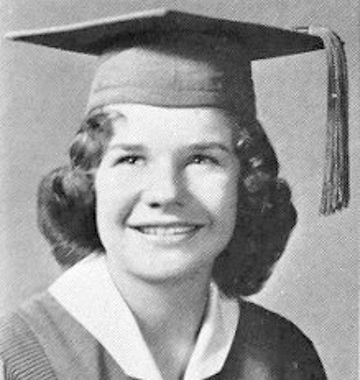 Janis Joplin, high school year book photo, Texas, 1960