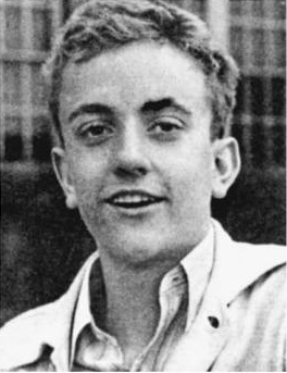 Kurt Vonnegut, high school yearbook photo, indiana, 1940s
