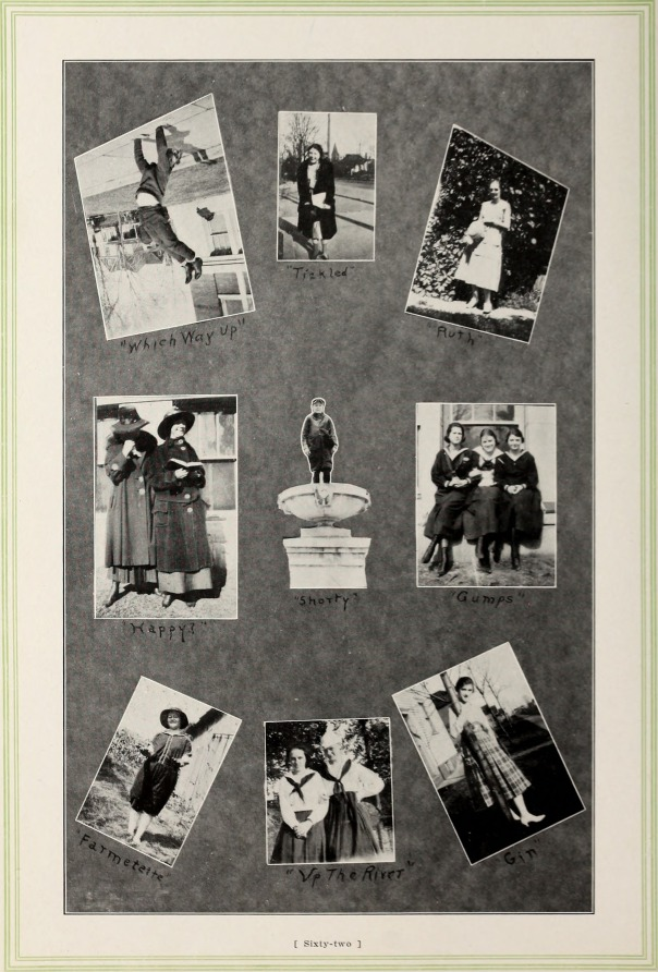 1919 yearbook page