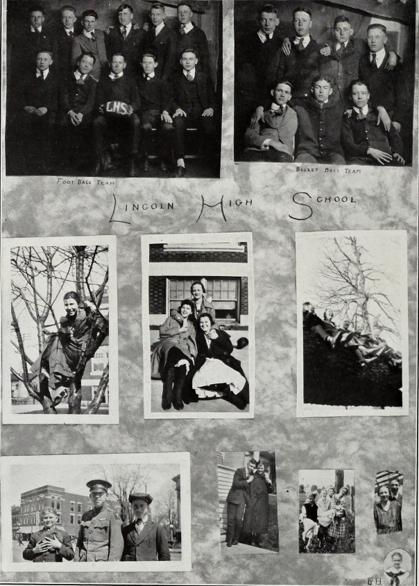 Page from Blue and Gold yearbook, 1919