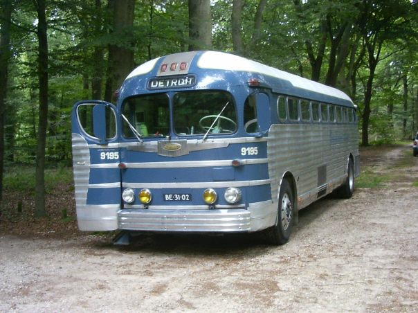 Classic Greyhound bus from 1950s (Credit: Pimvatend)