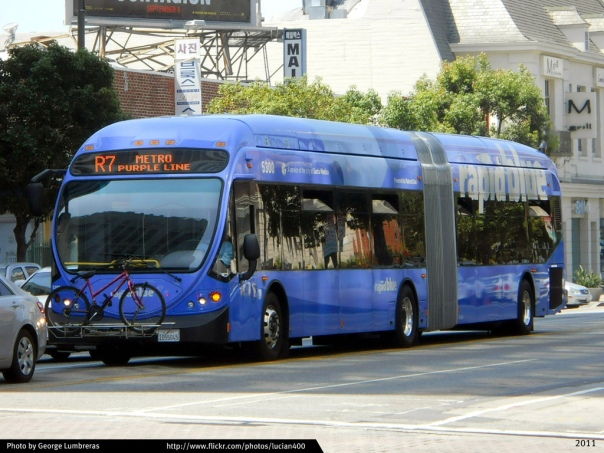 Santa Monica- Wilshire Boulevard express bus, present day (Credit: George Lumbrem)