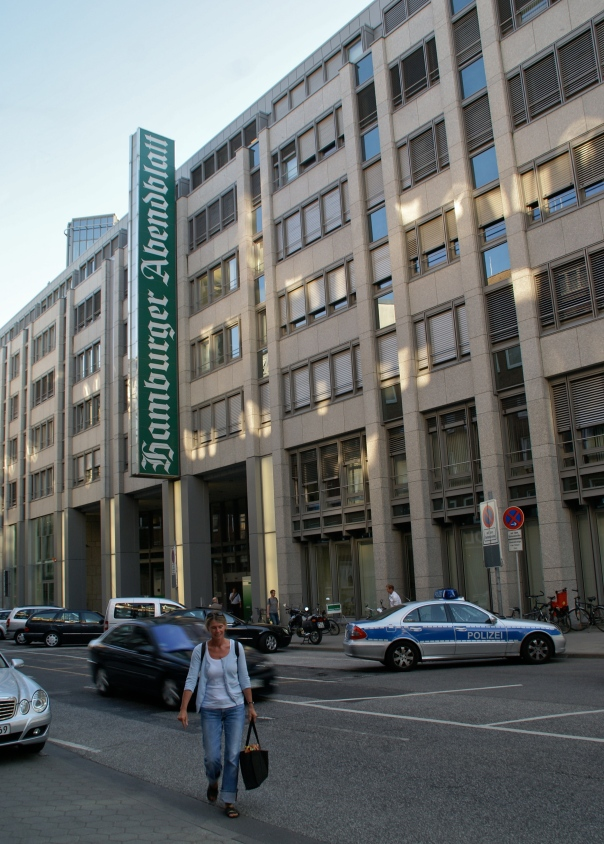 Headquarters building for the Hamburg-based paper, the Hamburger Abendblatt (Credit: flamenco)