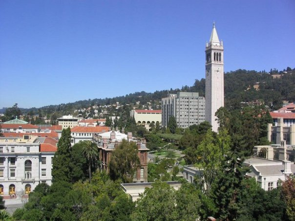 UC Berkeley campus with bell tower (Campanile)