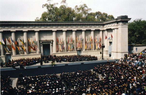 Hearst Greek Theater, graduation ceremony for one of the UC schools (Credit: Audris)